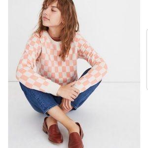 Checkerboard Shrunken Sweatshirt